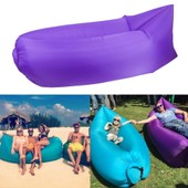 Airbag Gonflable Air Canap� Pour Plage Repos Camping -- Violet