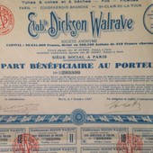 Disparue En 1926 Les Parts Ont Ete Rachetees En 1939 A Un Franc