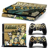 Fallout - Vinyle Couverture Decal Sticker Ps4 Pour Sony Playstation 4 Console & 2 Controller Skins(Tn1863)