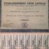 Ets Leon Leville Action De 2500 Fr