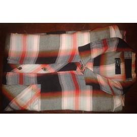 Chemise Gap Viscose Taille Xl Tissu �cossais Noir Blanc Et Rouge