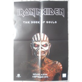IRON MAIDEN THE BOOK OF SOULS BON DE PRéCO/PLAN MéDIA/ POSTER FORMAT 58X40 TRèS RARE
