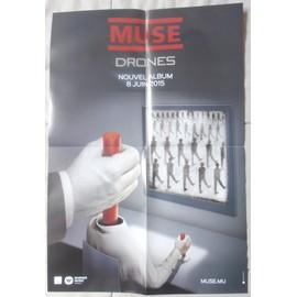 MUSE DRONES PLAN MéDIA/BON DE PRéCO/POSTER FORMAT 58X40 TRèS RARE