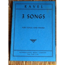 Ravel Trois chansons (cycle voix/piano)