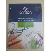 Pochette Feuillets Mobiles Perfor�es Dessin Canson