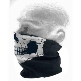 Masque, Tour De Cou - T�te De Mort (Skull Biker Ghost Rider Call Duty Ops) - Tube Microfibre ( Filtre Protection Pm10 ) Moto Scooter V�lo Ski Snowboard Vtt Roller Skate Cosplay Homme Femme Ado Street