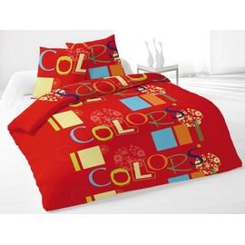 Housse De Couette 220x240 Cm + 2 Taies D'oreiller Colors Rouge