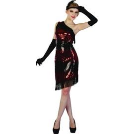 D�guisement Charleston Femme Noir Et Rouge - 59464 - Small - Port 0�