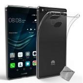 Housse Etui Coque Silicone Gel Fine Pour Huawei P9 Lite + Verre Trempe - Tpu Transparent