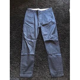 Pantalon Zara Polyester 42 Bleu