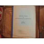 Bulletin Annuel De M�t�orologie Et De Climatisation - Ann�es 1961-1965