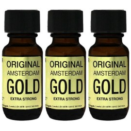 Poppers Propyle Original Amsterdam Gold 25ml X3 Push Poppers