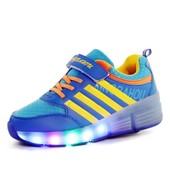 Heelys Led Baskets Roul� Enfant Gar�on Chaussures � Roulette Bleu