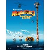 Madagascar 3 Bons Baisers D'europe - V�ritable Pr�-Affiche De Cin�ma Pli�e - Format 120x160 Cm - De Eric Darnell Avec Les Voix De Ben Stiller, Chris Rock, Frances Mcdormand - 2012