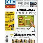 Que Choisir N� 537 - Juin 2015 - Emballages, La Triche / Billets D'avion / 28 Huiles D'olive