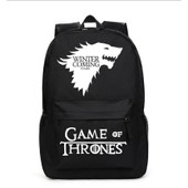 Honhuiqixin Game Of Thrones Sac � Dos Cartable �paule �cole Voyage Travail Sport Ipad Laptop Backpack Rucksack Toile Noir