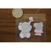 Patch Thermocollant 2 �l�phants Rose