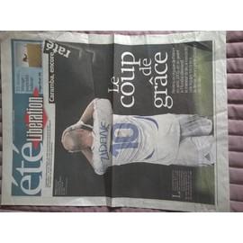 Occasion, Libération Supplément été du 8 et 9/08/2009 Coup de tête Zidane