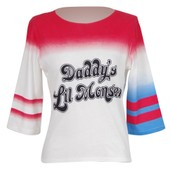 T-Shirt Greedland Suicide Squad Harley Quinn Cosplay Daddy's Lil Monster