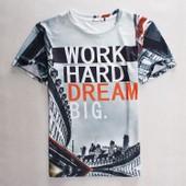 Travailler Dur Dream Big Unisexe 3d Imprim�s T Shirts Cool Slim Fit Hip-Hop Manches Courtes O Cou