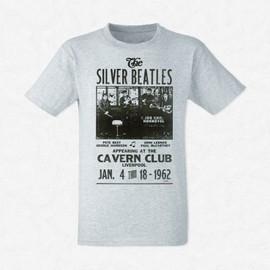 T-Shirt Homme Gris The Beatles affiche concert
