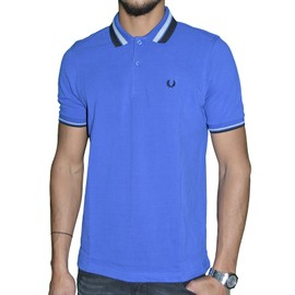 Fred Perry - Polo Manches Courtes - Homme - Polo Twin Tipped M7386 - Bleu Royal