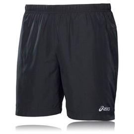 Asics 7 Pouces Hommes Shorts Pantacourt Bas De Course Sport Jogging Gym Noir