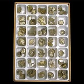 Carton De 35 Pcs Pyrite De Bulgarie