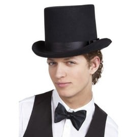 Chapeau Haut De Forme Noir Adulte,