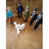 Lot 6 Figurines Tintin,Milou,Dupond Et Dupont,Professeur Et Capitaine