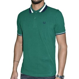 Fred Perry - Polo Manches Courtes - Homme - Polo Twin Tipped M7386 - Vert