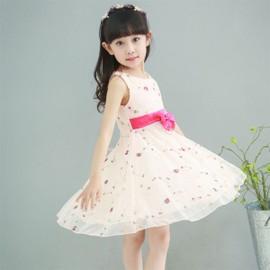 Princesse Mignonne Arc Fille Robe Enfant �t�