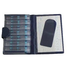 Magnien Medidose - Pilulier Gris Bleu Bordeaux Semainier - 1 Unit�