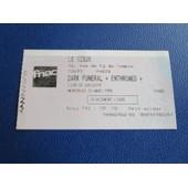 Billet Ticket Black Metal Dark Funeral / Ethroned / Liar Of Golgoth - 25/03/1998 - Le Gibus