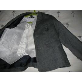 Veste De Costume Cyrillus Tweed 10 Ans Gris