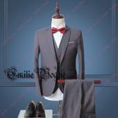 Costume Homme Pour C�r�monie/Soir�e/Mariage 3 Pi�ces Ensemble Pantaton Avec Veste Gilet Et Pantalons Emilie Mariage