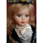 Poup�e Porcelaine Cavali�re 1900 - Cheveux Blonde Mi-Long