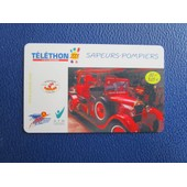 Carte Telephonique Sapeurs-Pompiers Telethon 2001 - 20 F - S�rie Limit�e Carte N�2400/10000