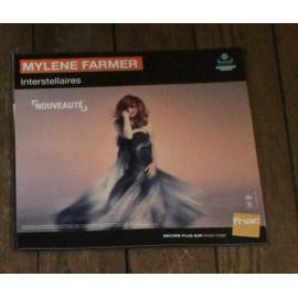 PLV 30x30cm souple MYLENE FARMER interstellaires / magasins FNAC