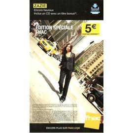 PLV 14x25cm cartonnée rigide ZAZIE encore heureux / magasin FNAC