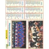 Almanach Du Facteur 1993 Multi-Sports Tennis - Foot - Voile - Rame