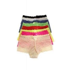 Lot 8 Boxers Shorty Femme En Dentelle M/L, L/Xl, Xl/Xxl 1873
