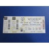 Ticket Billet Football Red Star 93 / Racing Cp 28/03/2000 Stade De France Place 5