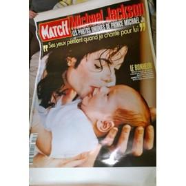 MICHAEL JACKSON COUVERTURE PARIS MATCH EN TAILLE GEANTE