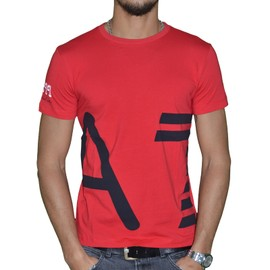 Ea7 Emporio Armani - Tee Shirt Mc - Homme - Seaworld Portofino - Rouge Navy