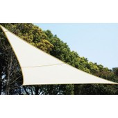 Voile D'ombrage Triangulaire - Blanc - Toile Solaire 3 X 3 X 3 M