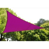 Voile D'ombrage Triangulaire - Violet - Toile Solaire 4 X 4 X 4 M