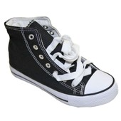 Basket Surpiqu�e Montante Femme En Toile Fashion Style Converse Pierre-Cedric !! Hauteur Totale 14cm-Semelle De 2cm-Fermeture Par Lacets ! Expedition En 24/48hrs