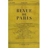 Revue De Paris 52e Annee N�4 - J�r�me Et Jean Tharaud : L'antiquaire D�Ispahan Ernie Pyle : Sicile, Jour J, Heure H Maurice Levaillant : Benjamin Constant Et Madame R�camier Paul G�raldy : ...