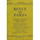 Revue De Paris 52e Annee N�8 - Georges Duhamel : Images De La Vie Du Paradis. � I Maurice Gar�on : Les Tribunaux D'exception Daniel-Rops : William Blake Guillain De B�nouville : Naissance ...